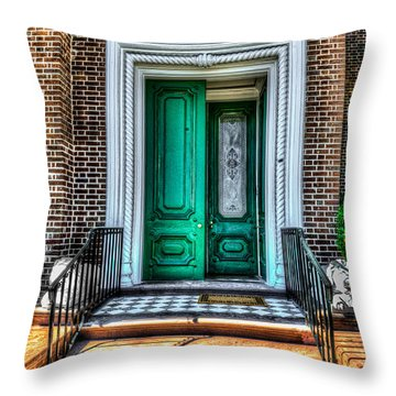 Historic Charleston Sc Door Throw Pillow
