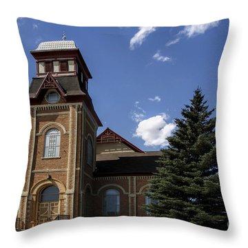 Historic Church In Randolph Utah Throw Pillow