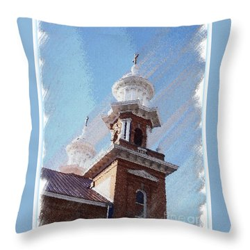 Historic Church Steeples Throw Pillow