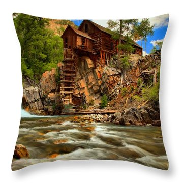 Historic Colorado Landscape Throw Pillow by Adam Jewell