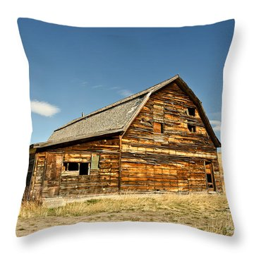 Historic Community Hall Throw Pillow by Sue Smith