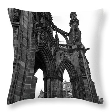 Historic Edinburgh Architecture Throw Pillow