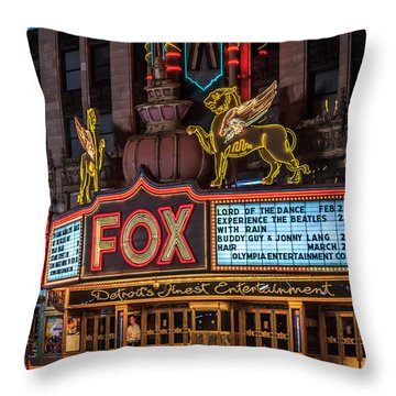 Historic Fox Theatre In Detroit Michigan Throw Pillow