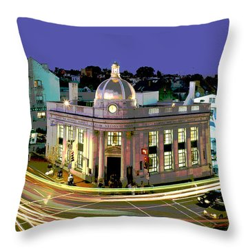 Throw Pillow featuring the mixed media Historic Gerogetown by Charles Shoup