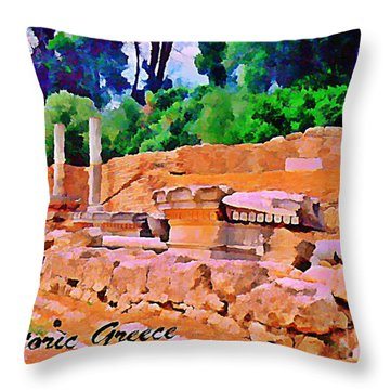 Historic Greece Throw Pillow by John Malone