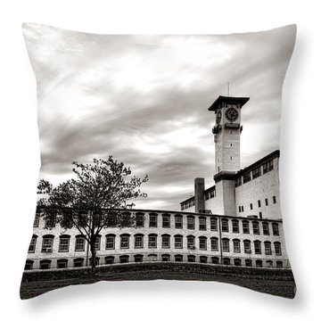 Historic Grundy Mills Throw Pillow