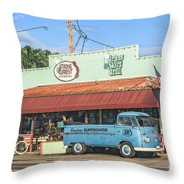 Historic Haleiwa Surf Town On The North Shore Of Oahu Throw Pillow