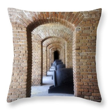 Throw Pillow featuring the photograph Historic Hallway by Laurie Perry