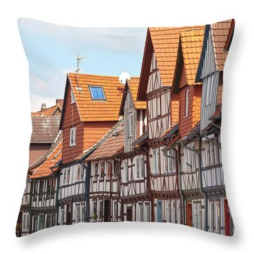 Historic Houses In Germany Throw Pillow by Heiko Koehrer-Wagner