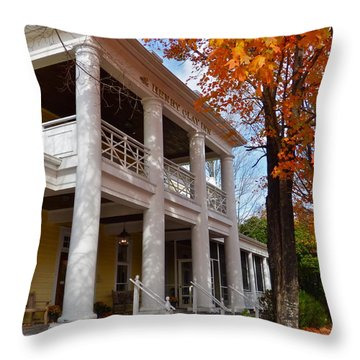 Historic Inn In Ashland Va Throw Pillow