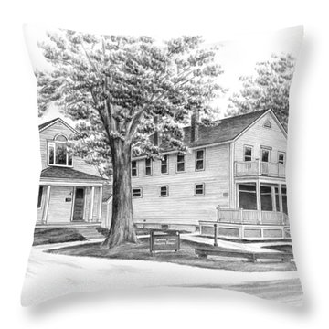 Historic Jaite Mill - Cuyahoga Valley National Park Throw Pillow
