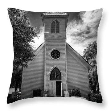 Historic Mcintosh Methodist Church Throw Pillow by Lynn Palmer