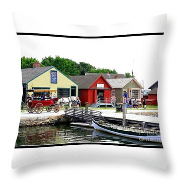 Historic Mystic Seaport Throw Pillow
