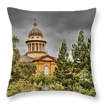 Throw Pillow featuring the photograph Historic Placer County Courthouse by Jim Thompson