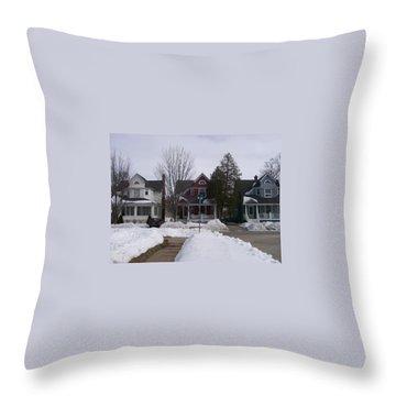 Historic Seventh Street Menominee Throw Pillow
