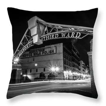 Historic Shoe Polish Throw Pillow