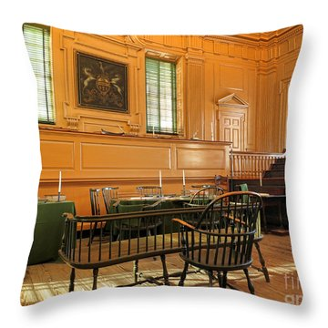 Historic Supreme Court Throw Pillow by Olivier Le Queinec