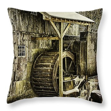 Historic Taylor Mill Throw Pillow by Betty Denise