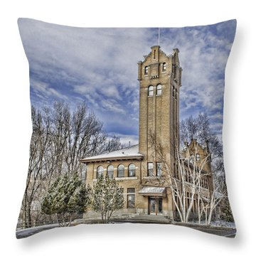 Historic Train Station Throw Pillow by Fran Riley