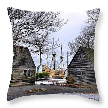 Historic Waterfront Throw Pillow