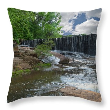 Historic Yates Mill Dam - Raleigh N C Throw Pillow