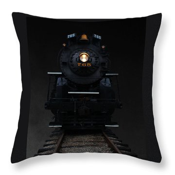 Historical 765 Steam Engine Throw Pillow