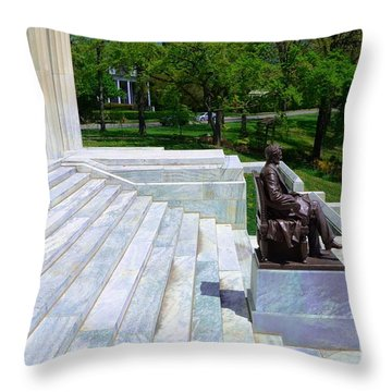 Historical Museum Building Of Buffalo Throw Pillow by Kathleen Struckle