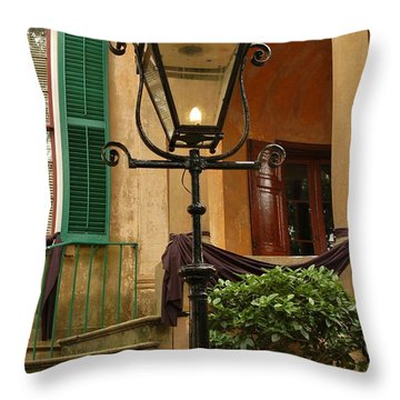 Throw Pillow featuring the photograph Historical Gas Light by Patrick Shupert