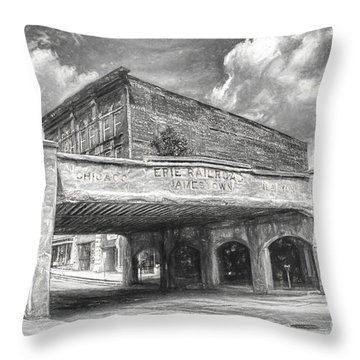 Historical Railroad Bridge Throw Pillow