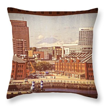 Historical Red Brick Warehouses Throw Pillow by Beverly Claire Kaiya