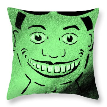 Historically Green Tillie Throw Pillow by Patricia Arroyo