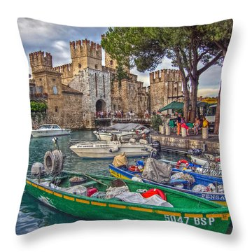 History At Lake Garda Throw Pillow by Hanny Heim