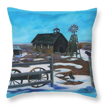 History In The High Desert Throw Pillow