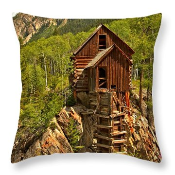 History In The Mountains Throw Pillow by Adam Jewell