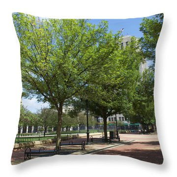 History -  Lincoln Square Springfield Il - Luther Fine Art Throw Pillow by Luther Fine Art