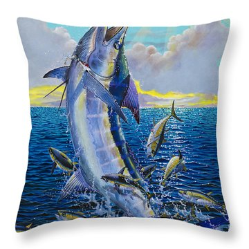 Hit And Miss Off0084 Throw Pillow by Carey Chen