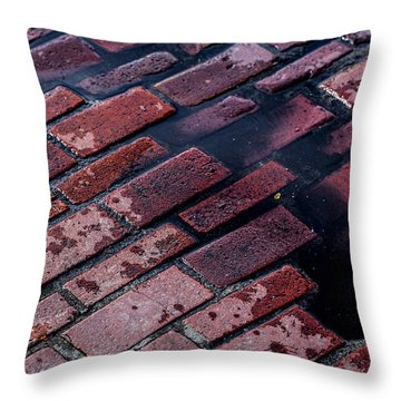 Hit The Bricks Throw Pillow by Andrew Pacheco