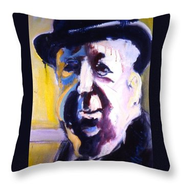 Throw Pillow featuring the painting Hitch by Les Leffingwell