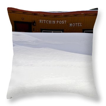 Hitchin' Post April Throw Pillow