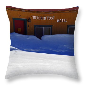 Hitchin' Post March Throw Pillow