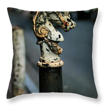Throw Pillow featuring the photograph Hitching Post #1 by Heather Green