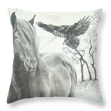 Hitch'n A Ride Throw Pillow