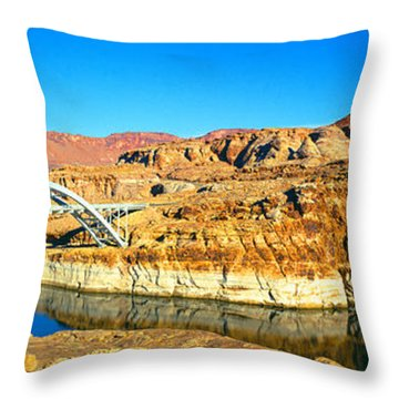 Hite Overlook And Cataract Canyon Throw Pillow