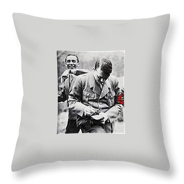 Hitler And Goebbels  As The German Chancellor Signs An Autograph  Throw Pillow