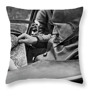 Hitler Studies Road Map Throw Pillow