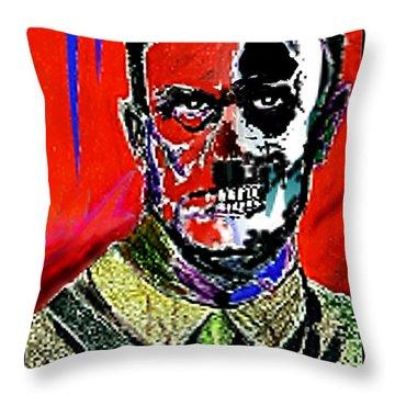 Hitler  - The  Face  Of  Evil Throw Pillow