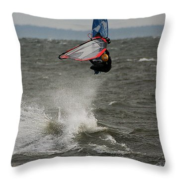 Hitting A Wave 1 Throw Pillow