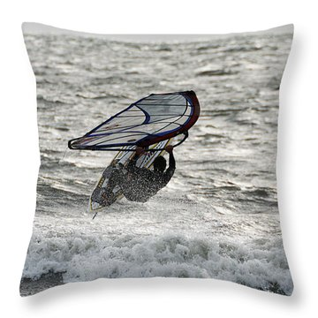 Hitting A Wave 2 Throw Pillow