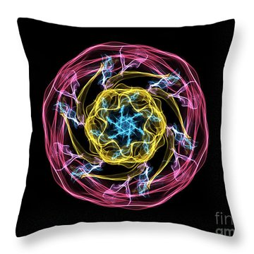 Hj-whisp Flower Throw Pillow