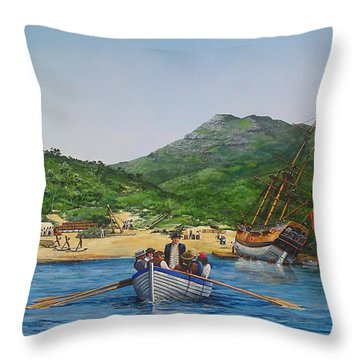 Hm  Bark  Endeavour Careened  Throw Pillow